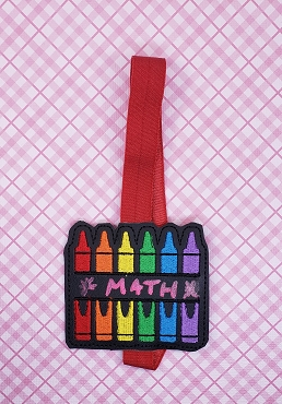 Crayon Monogram/Chalkboard Planner Band Embroidery Design